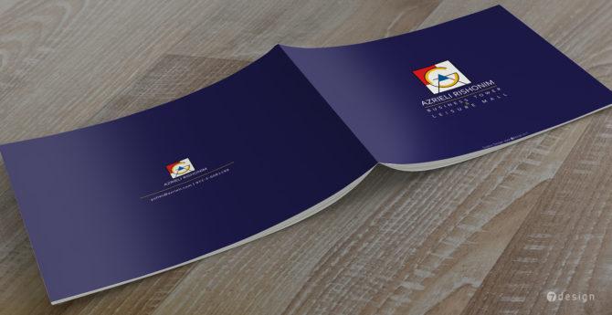 עיצוב כריכת חוברת שיווק