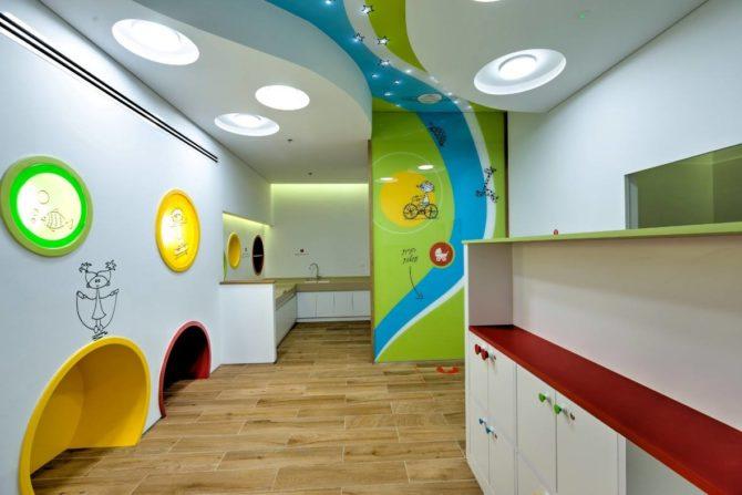 עיצוב גרפי לקירות ולתקרה, חדר שירות ומשפחה