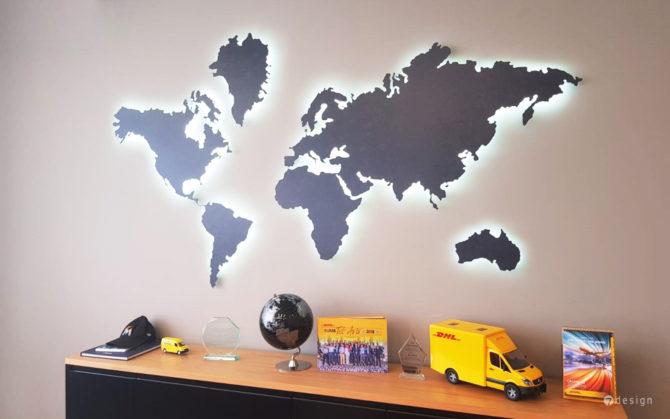 עיצוב קיר חדר מנכ