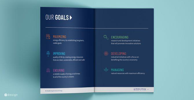 משרד האנרגיה - עיצוב כפולת יעדים חוברת משקיעים